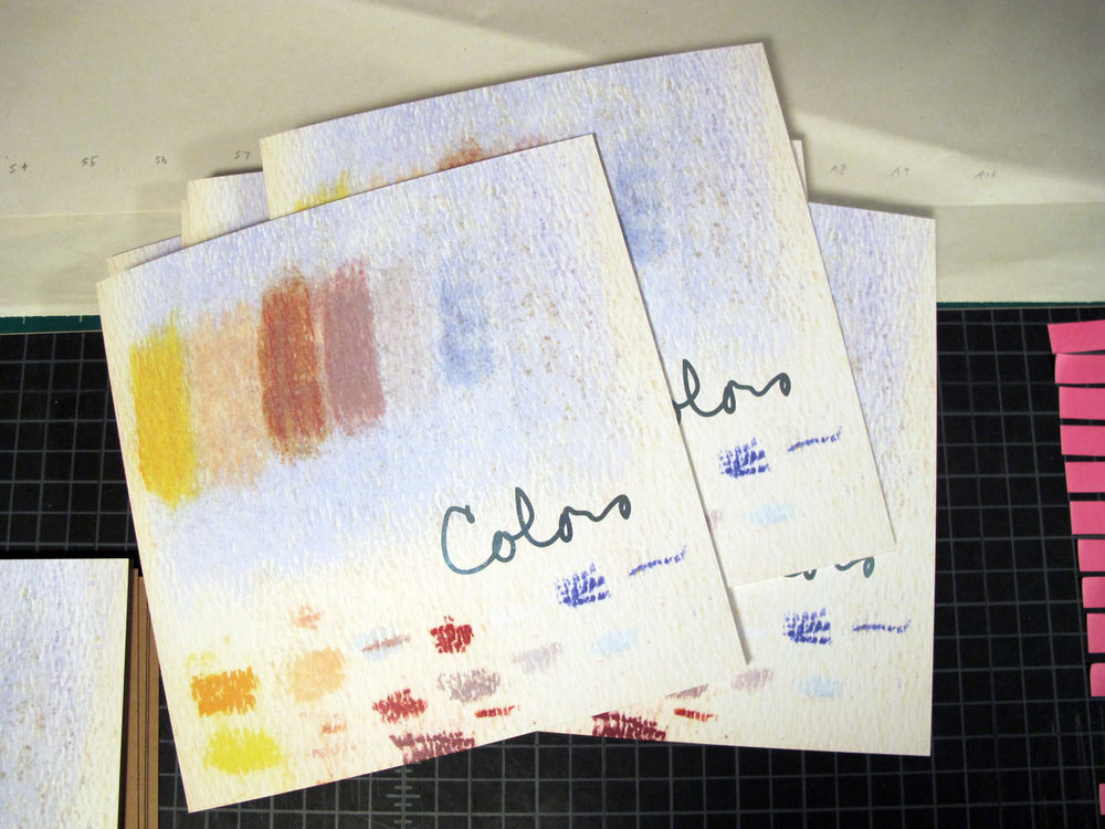 "Colors by Ruth Zinn Becker, painter  48-page, perfect-bound book, foil stamped / 8"" x 8"" / first edition of 25 / 2017 / $25 USD"