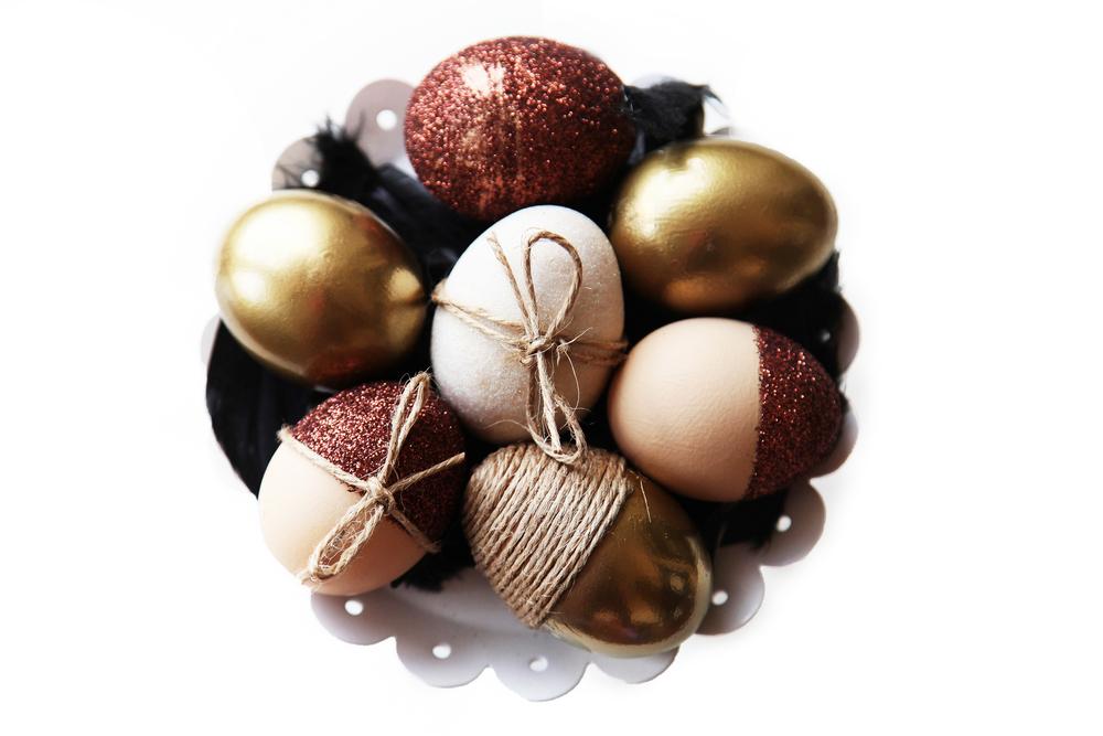 Easter Eggs Gold & Glitter