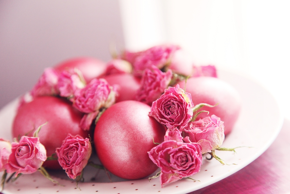 Baby Roses Easter Egg Pink Idea