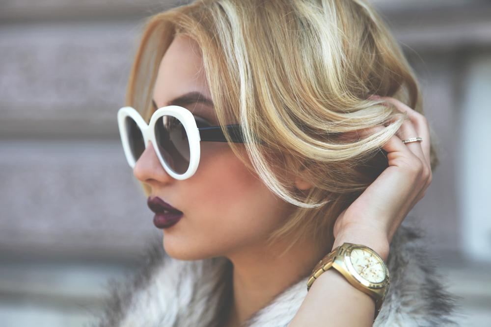 Diana Rogo classy look dark lips