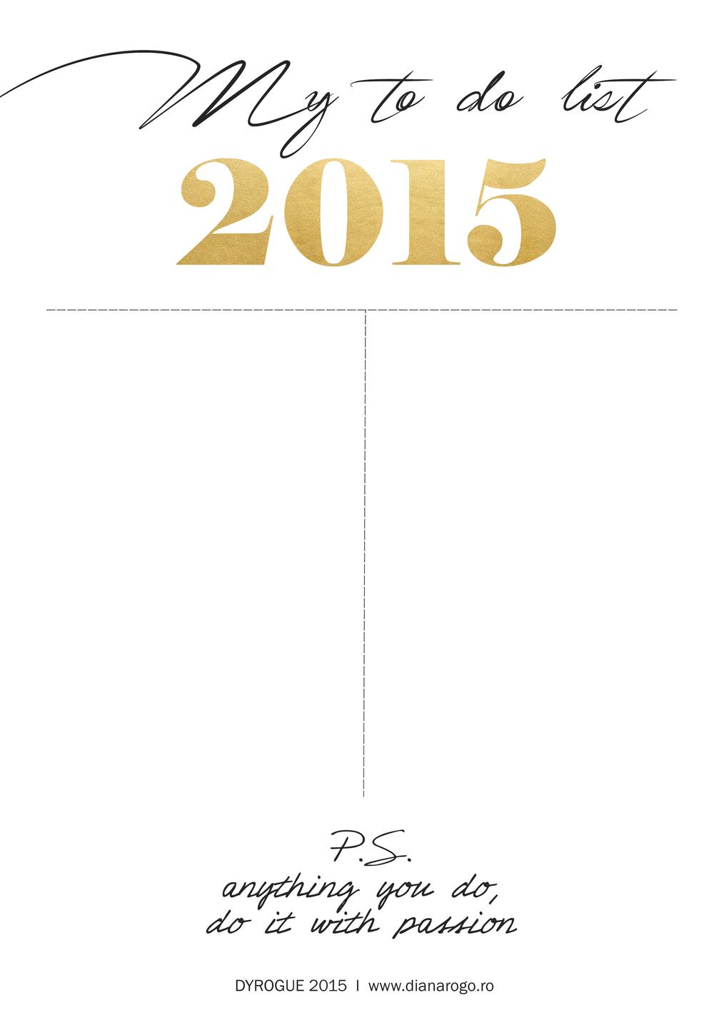 2015 To do Printable on DYROGUE