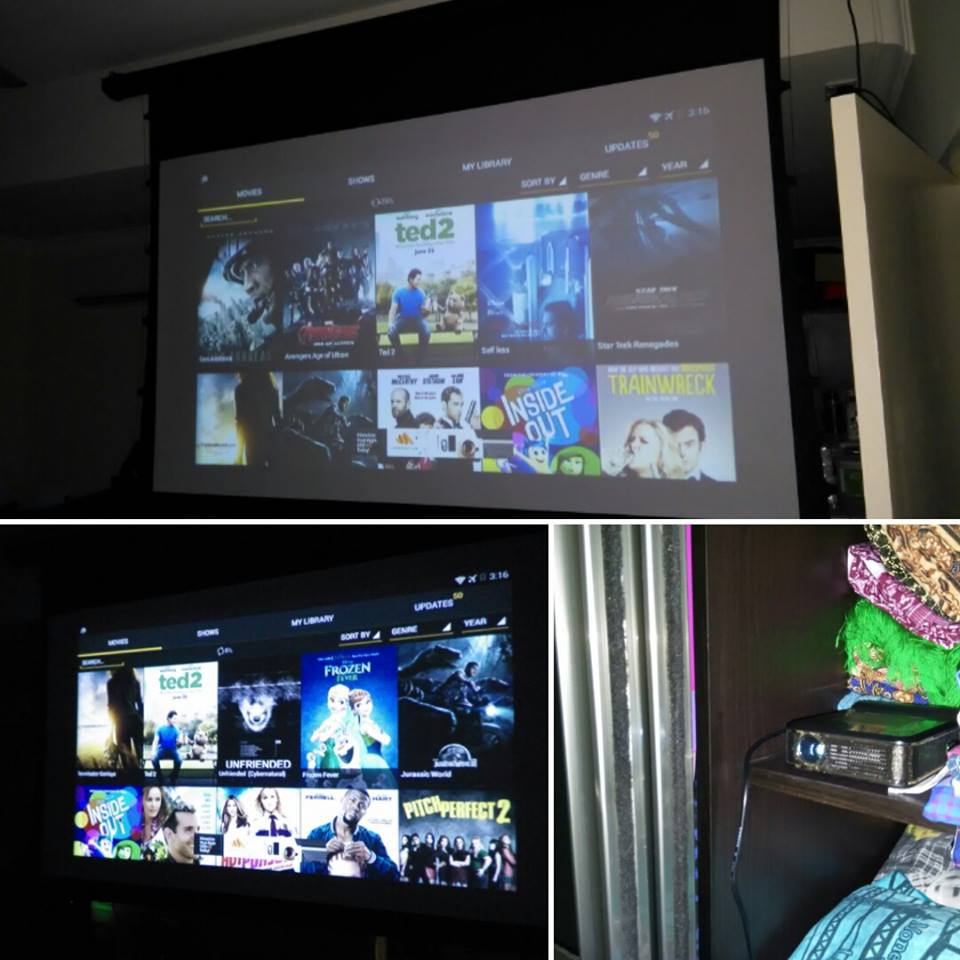 Shaiful Aizal's Movie Night Setup (Aug 2015)