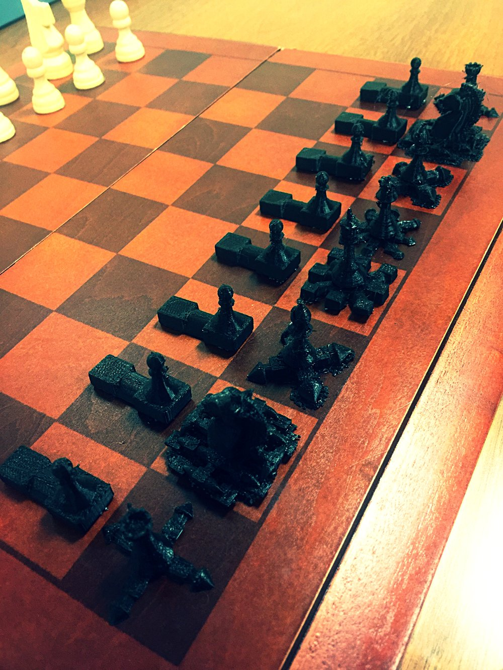 First full-side prototype for instructional chess.