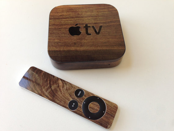 Apple TV Wooden Decal