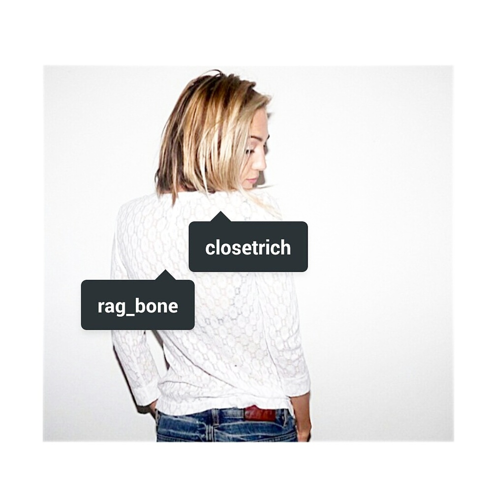 CR model Lilly Flores in Rag & Bone top avail on closetrich.com