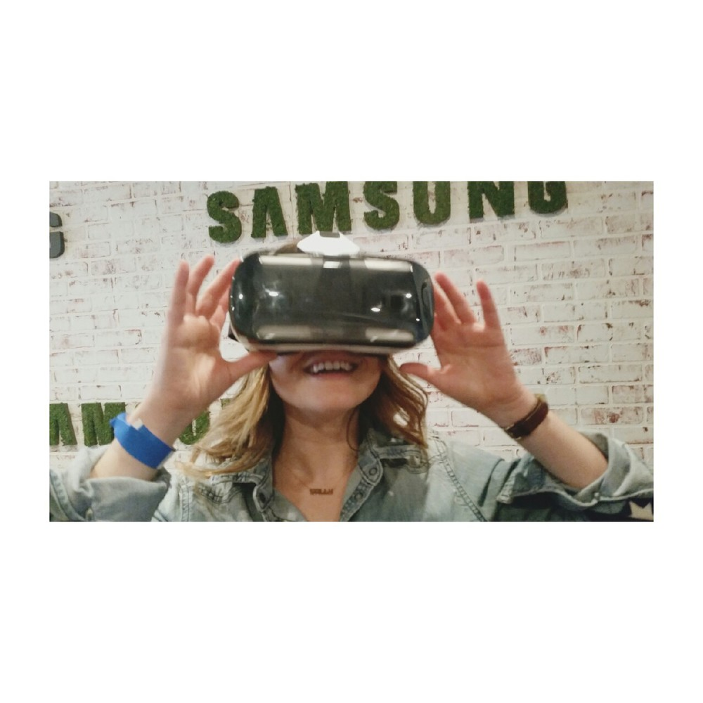 Most Interactive: Virtual Reality Glasses at Samsung, hello future, nice to be in you