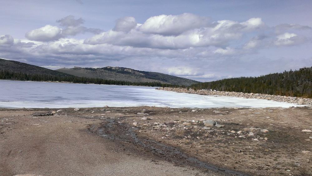 Frye Lake at the summit of the climb.