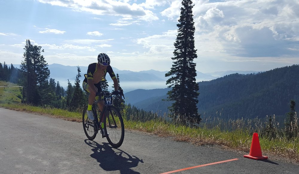 Bart Flynn at the 2016 Teton Pass Hill Climb. Photo: Forest Dramis