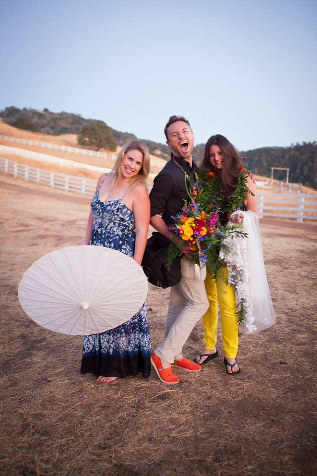 The team behind the madness! Katie (Kinsley James), Colson and Joy (Director of Sales for Tulle New York)