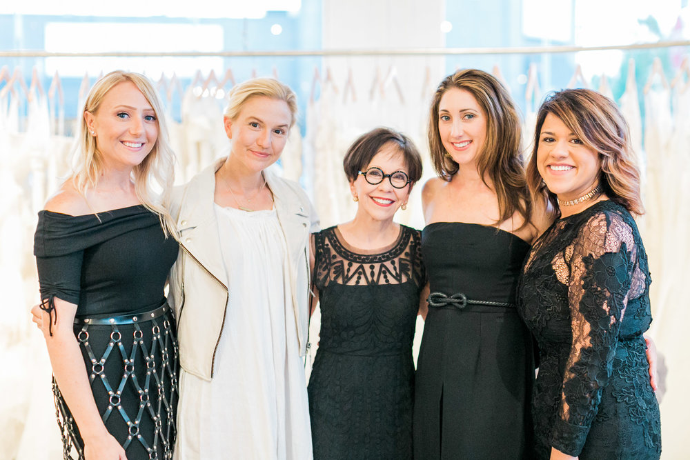From the left: KJ Owner Amber Silva, Author Anne Sage, Designer Anne Barge, President & Owner Shawne Jacobs, and KJ Owner Dawn Silva Rigney