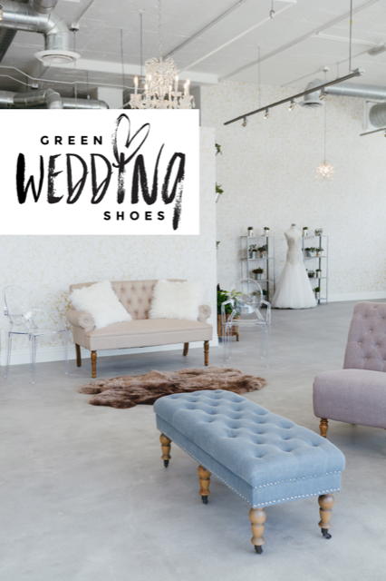 Green wedding shoes -