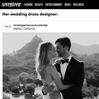 SEVENTEEN MAGAZINE - Bride Paige O'Brien and husband Josh Peck