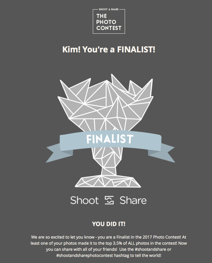 shoot and share finalist badge