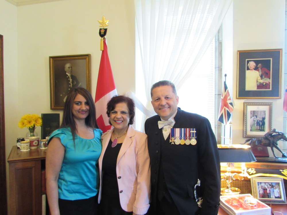 Senator Mobina Jaffer and Superintendent Greg Peters, Usher of the Black Rod