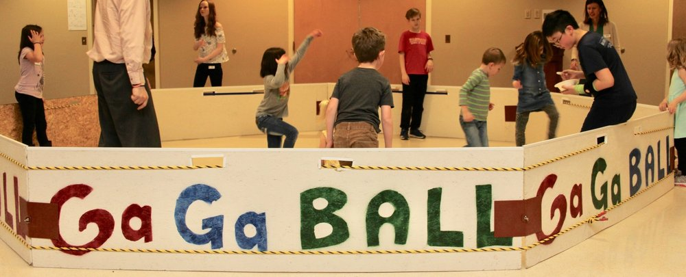 Gaga Ball- 4 Square and other gym games.