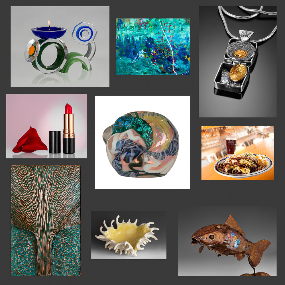 Images of Jewelry, Glass, Ceramics, Food, 2D, 3D & Commercial Images by Photographer John Higby of Eugene Oregon