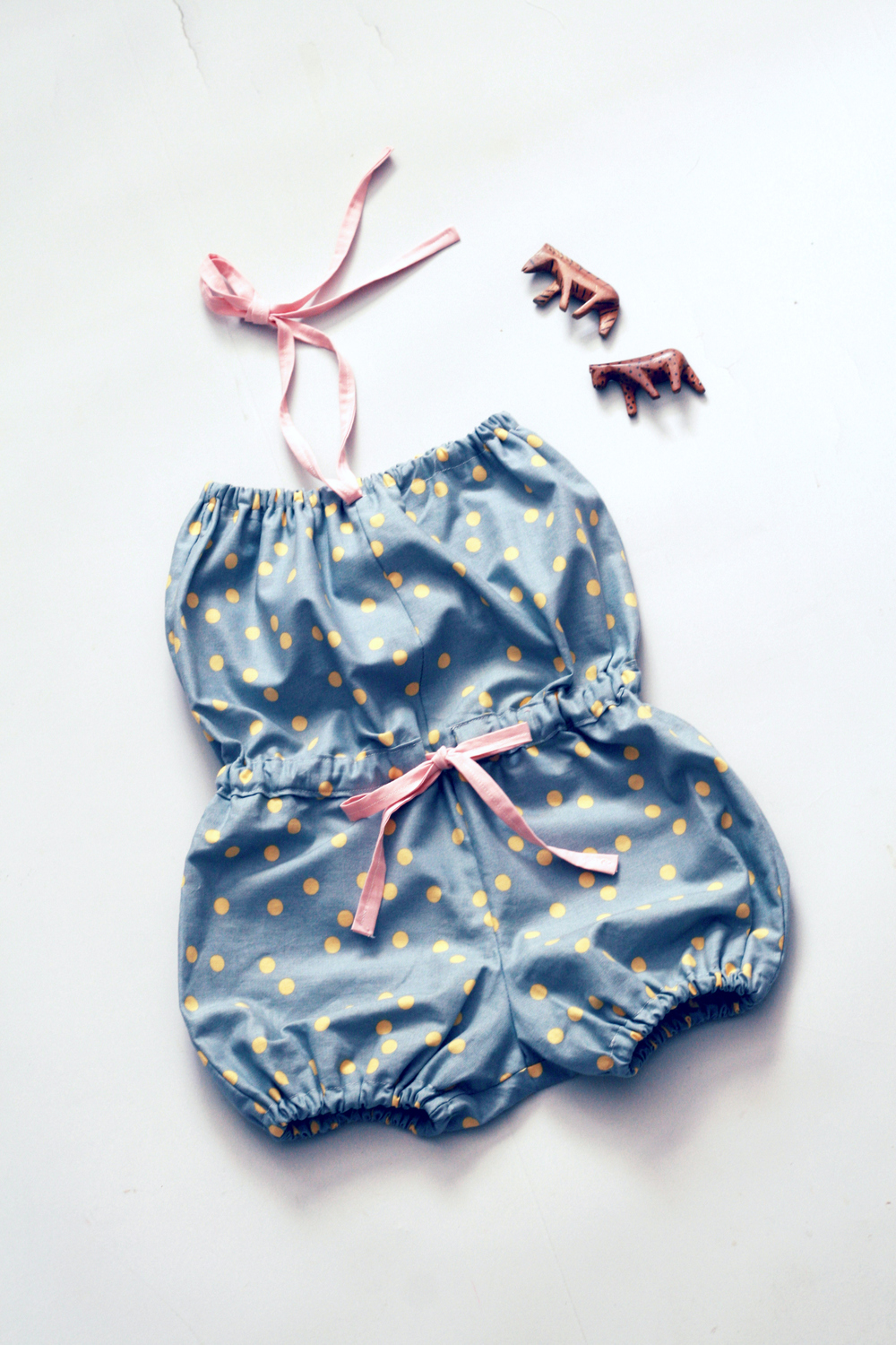 Fleur + Dot Firefly Rumpus Girls Bubble Polka Dot Romper 2.jpg