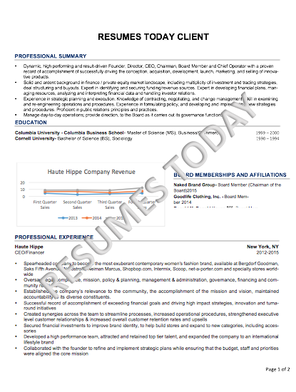 C Level U0026 Executive Resumes  Executive Resumes