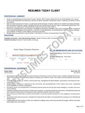 résumés today c level executive resumes