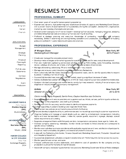rsums today professional modern resume - Resume Font Format