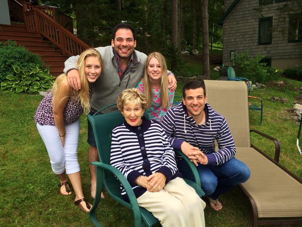 """Grandma B"" with her grandchildren, July 2015."