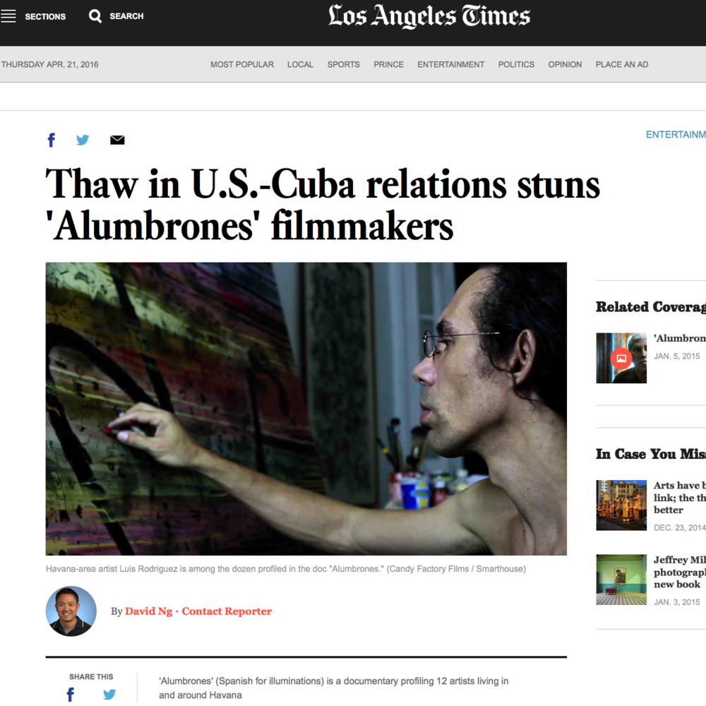 ALUMBRONES  Media outreach for Los Angeles Theatrical Premiere