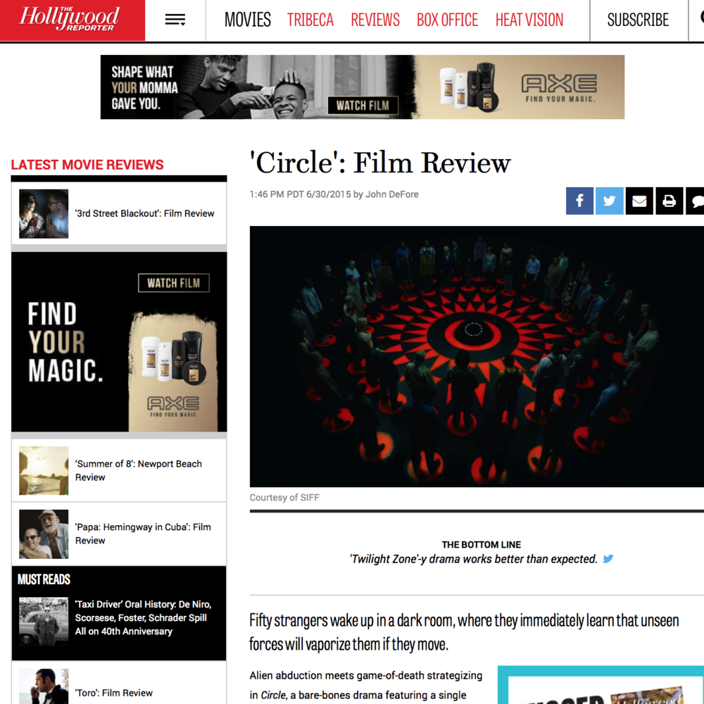 CIRCLE  Media outreach in support of World Premiere at the Seattle International Film Festival