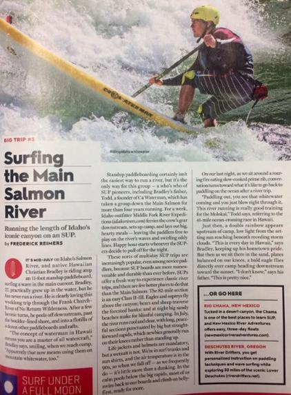 Print article in Men's Journal