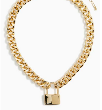 Nasty Gal Pop, Lock and Drop Necklace $25