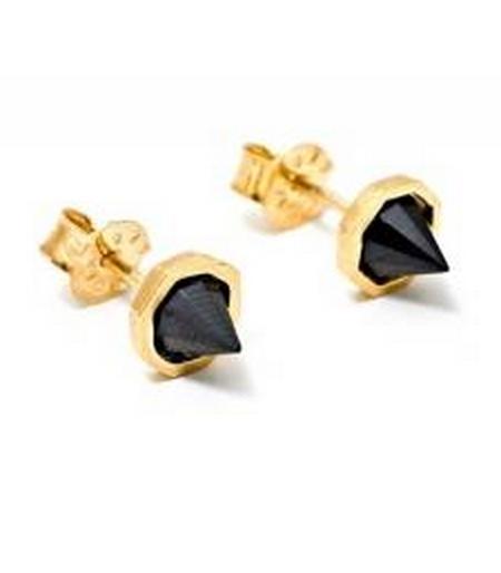 Katie Diamond Black Garnet Astrid Studs $150