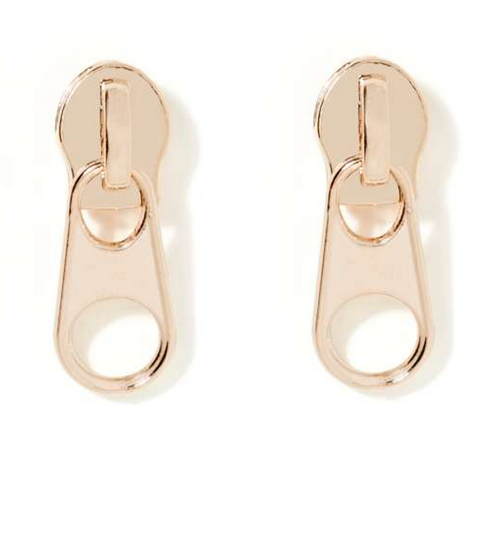 Nasty Gal Zip It Earrings $10