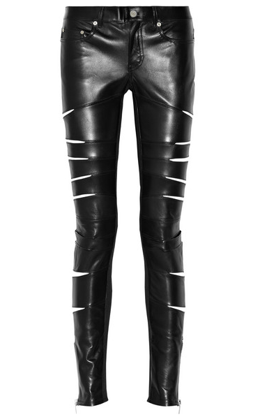 SAINT LAURENT leather pants $5,950