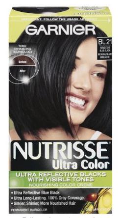 Garnier Nutrisse Blue Black Dye $6.99