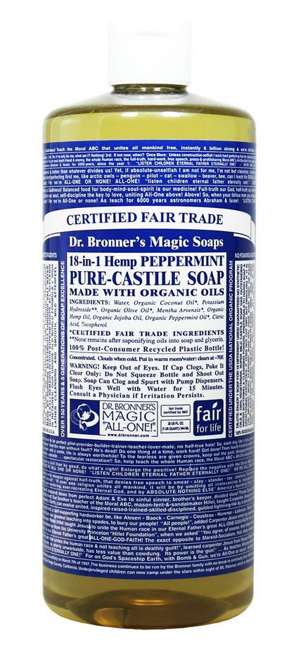 Peppermint Bronner's Soap $17