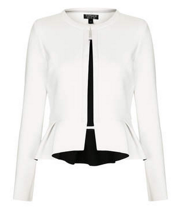 Top Shop Bonded Peplum Jacket $110