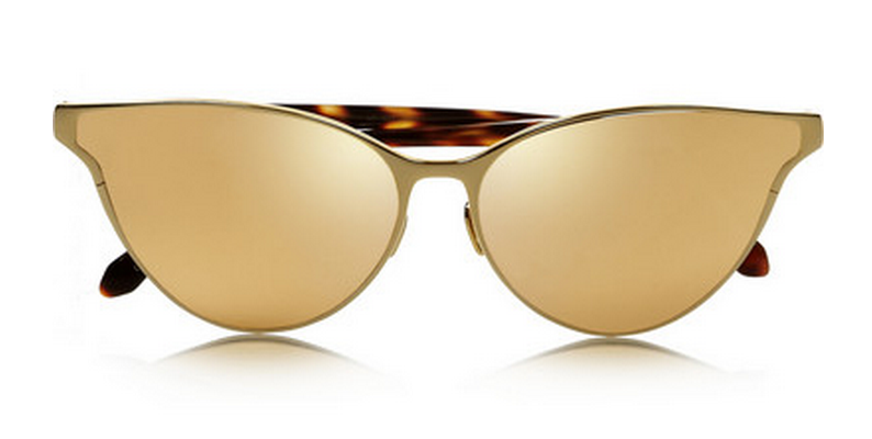 Linda Farrow Gold Cat Eyes $1040