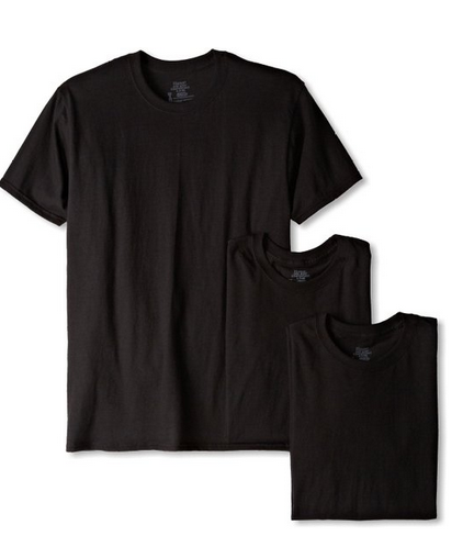 Hanes Men's Classics 3 Pack Black Crew Neck Tee $12.80 - $28.87