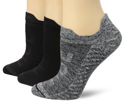 Hue Women's Air Sleek Front and Back Tab 3 Pack Athletic Socks $12