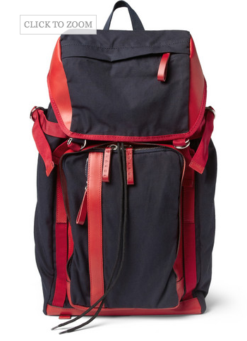 MARNI  LEATHER-TRIMMED CANVAS BACKPACK $1,195