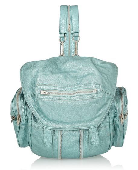 ALEXANDER WANG Marti metallic textured-leather backpack $1,150