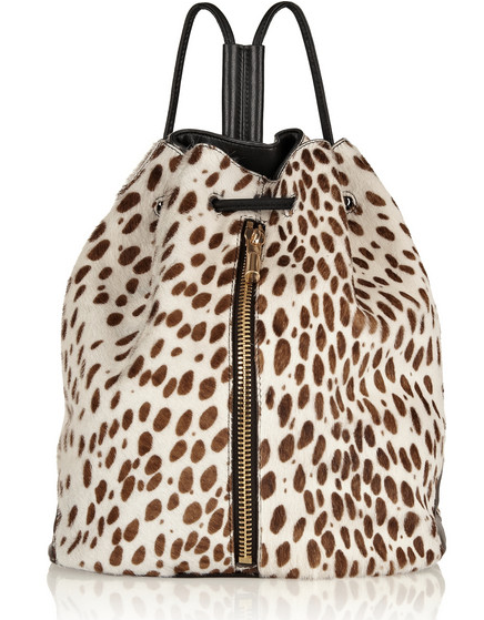 ELIZABETH AND JAMES Cynnie Sling leopard-print calf hair backpack $545
