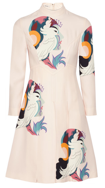 MIU MIU Printed Cady dress $3,500