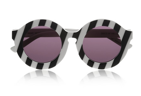HOUSE OF HOLLAND Peggy striped round-frame acetate sunglasses $250