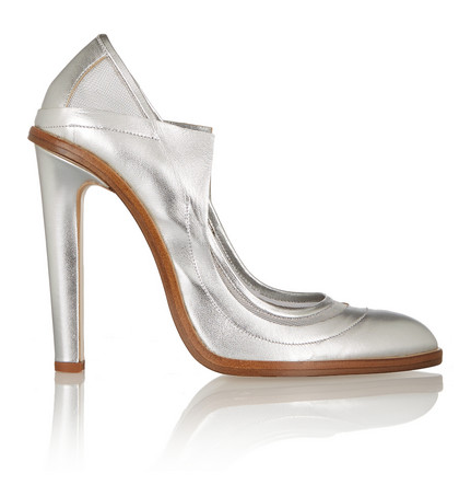 CHRISTOPHER KANE Metallic leather and mesh pumps $615