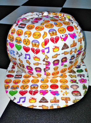 EMOJI SNAPBACK IN WHITE $47.06