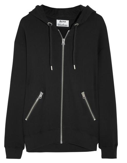 Acne Studios Oversized Cotton-Jersey Hooded Top $320
