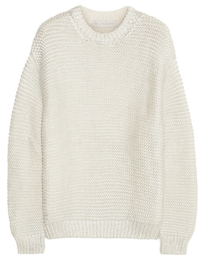 Stella McCartney Metallic Coated Cotton-blend Sweater $1.265