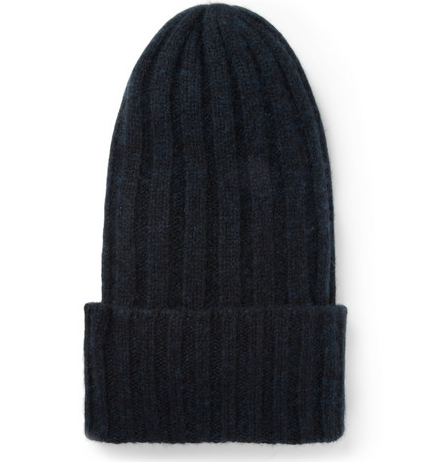 The Elder Statesman Bunny Echo RIbbed Cashmere Beanie Hat $275