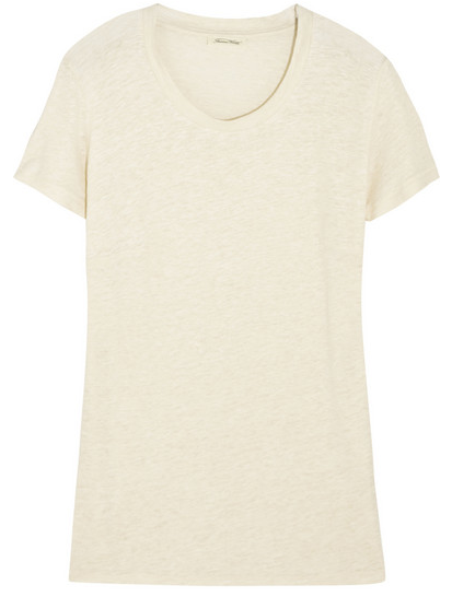 American Vintage Linen and Silk-Blend Jersey T-Shirt $100