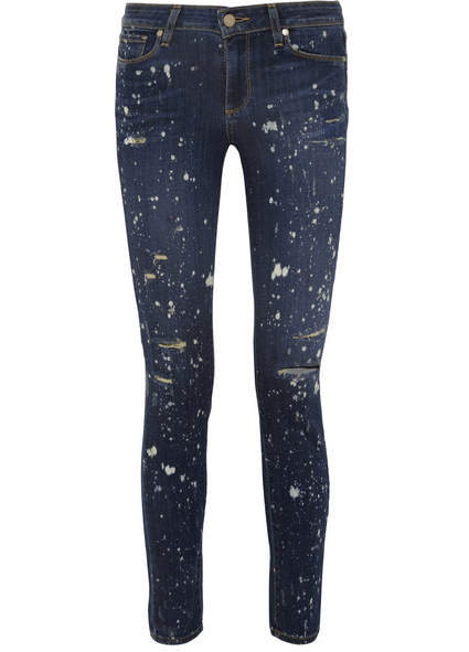 Paige Verdugo Distressed Mid-Rise Skinny Jeans $250